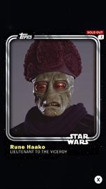 Rune Haako - Lieutenant to the Viceroy - Base Series 1