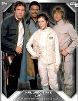 Han, Lando, Leia & Luke - Base Series 3