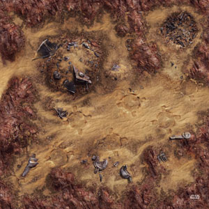 Desert Junkyard Gamemat
