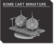 Bomb cart miniature
