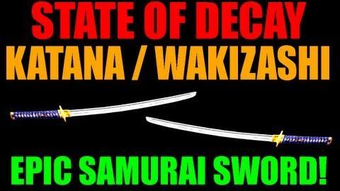 State Of Decay Katana Wakizashi Amazing Edged Weapon Samurai Sword It Exists! (HD)