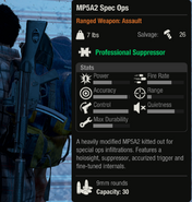 MP5A2 Spec Ops