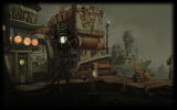 Chaos on Deponia Background Harbour at Night