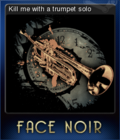 Face Noir Card 8