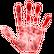 Paranormal Emoticon handprint