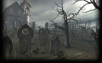 Resident Evil 4 Background RE4 Cemetery