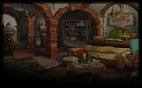 Chaos on Deponia Background Seagulls Mansion