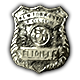 Face Noir Badge 2