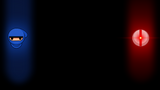 10 Second Ninja Background Red Against Blue