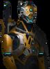 Synthetic dawn portrait humanoid