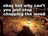 Stuck Chopping Wood