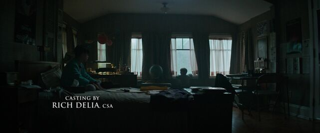 Bill and Georgie in Bill's bedroom