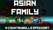 Countryballs Speedart 1 - Asian Family