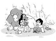 Steven's Lion drawing