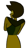 Yellow Diamond - Green Sillouette