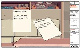 Love Letters Model Sheet Garnet's First Letter
