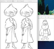 Vidalia and Onion wedding outfits doodle