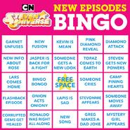 Cartoon Network SU Season 5 Bingo