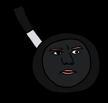 Peter Pan (Peter Parker's face on a frying pan)