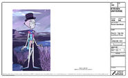 Rose's Scabbard Model Sheet Pearl Top Hat and Scarf Chain