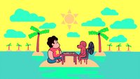 Dogcopter and Steven playing chess