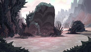 Mossy Boulder Brambles Background