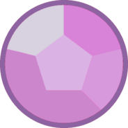Rose quartz gem night