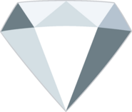 White Diamond Gemstone by RylerGamerDBS