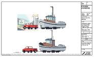 Yellowtail's Boat and Pickup Truck Model Sheet