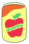 Yummy Apple Juice Png.png