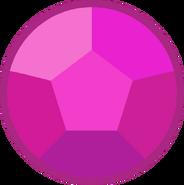 Rose quartz gem dusk
