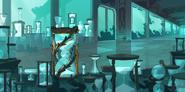 Underwater Temple Hourglass Background