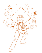 Peridot with the cans