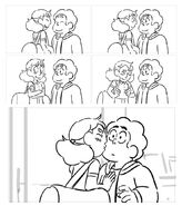 SU Movie - Connie and Steven kiss storyboard