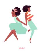 Kiki and Jenny Color Block