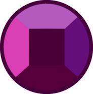 Rhodonite Ruby Gem Shrinking Bubble