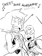 Singing lapis peridot