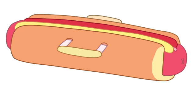 Hot Dog Duffel Bag