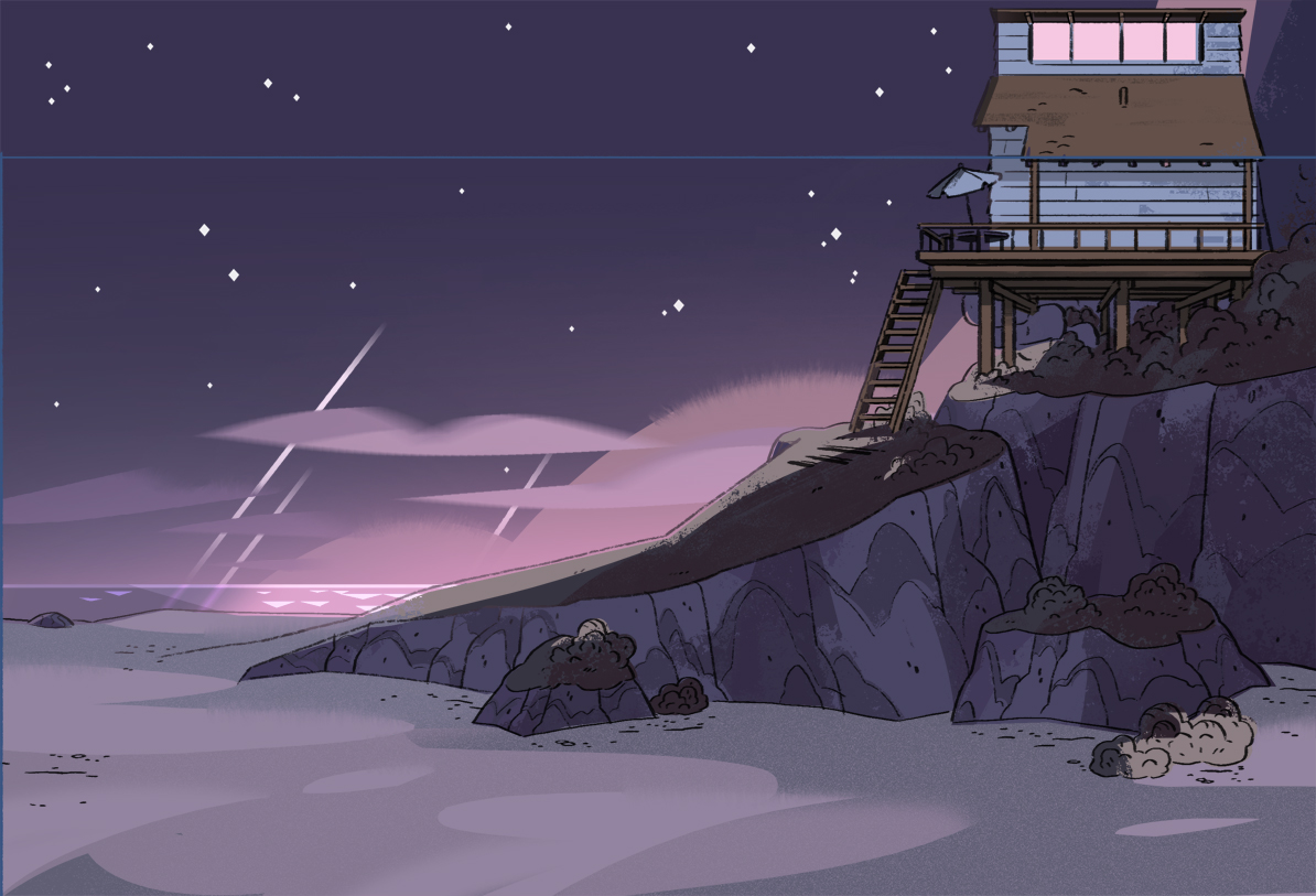 Beach House Side View Night Background.jpg