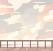 Sky From Beach House Background