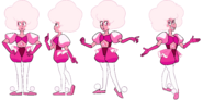 Pink Diamond (Modelsheet Poses) by RylerGamerDBS