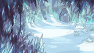 Ice Gem Wall Collision Background