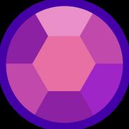 Amethyst gemstone shoulder hexagonal error