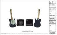 Amp and Guitar Model Sheet