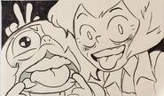 Amethyst and Vidalia drawing by Danny Cragg