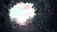 Pushed A Boulder Through Background