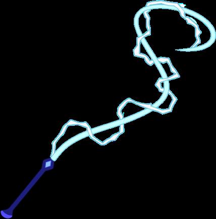 Chicote Elétrico de Ágata Azul