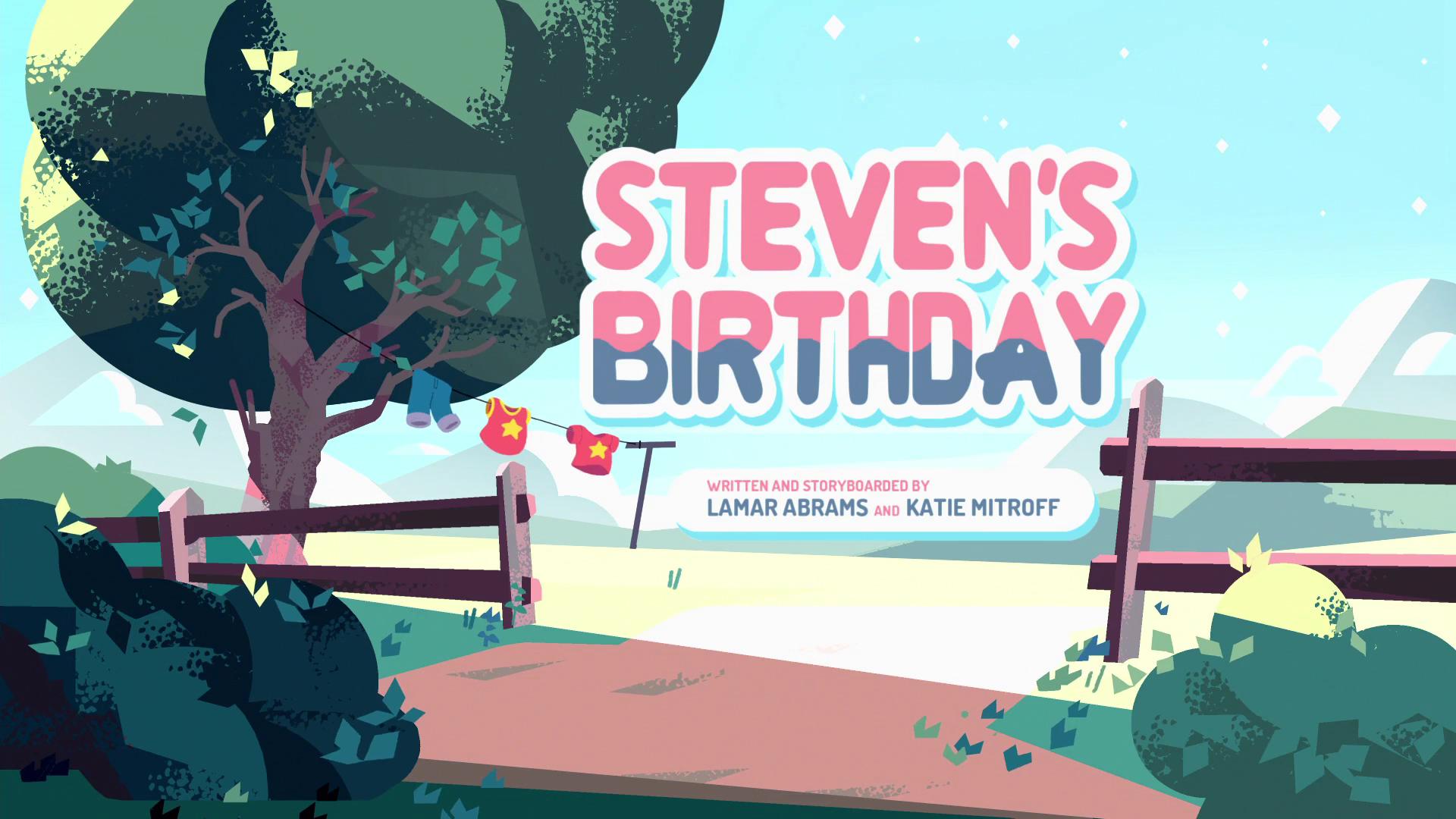 Aniversário de Steven/Galeria