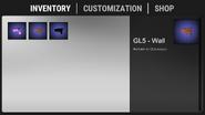 Inventory tab
