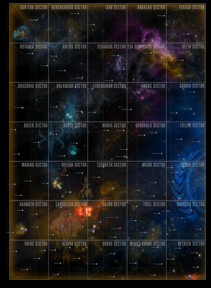 Map of the Alpha Quadrant